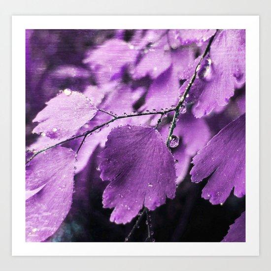 Lavender Fern Art Print