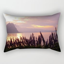 Sunset over Lake Lucerne Rectangular Pillow