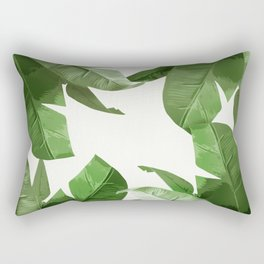 Tropical Palm Print Treetop Greenery Rectangular Pillow