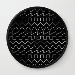 Waves // Black Wall Clock