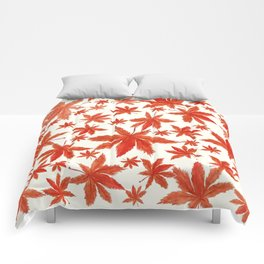 red maple leaves pattern Comforters