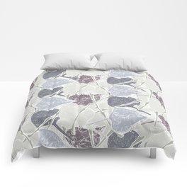 fifties Gray leaves Comforters