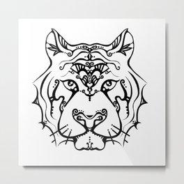 Tigerish Metal Print
