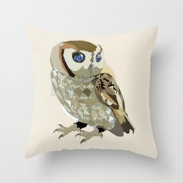 Blind Owl Throw Pillow