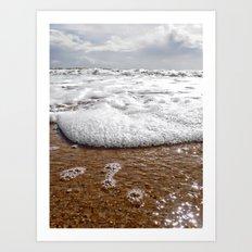 walk into the sea Art Print