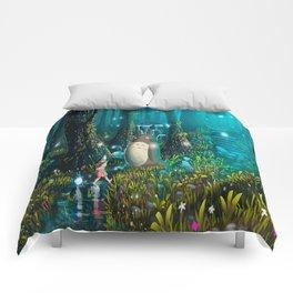 Totoro's In Jugle Comforters