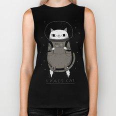 space cat Biker Tank