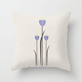 Minimal Bluebells Throw Pillow