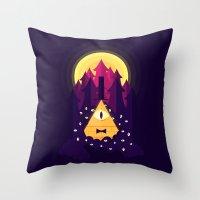 bill Throw Pillows featuring BILL by badOdds