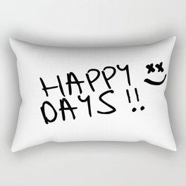 Happy Days !! Rectangular Pillow