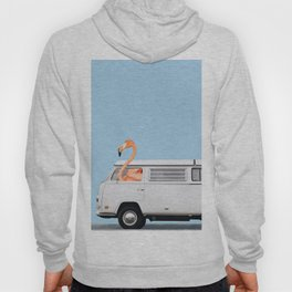 The Flamingo & His Adventure Van Hoody