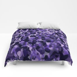 purple leopard in layers Comforters