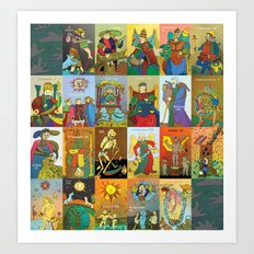 Tarot of Marseilles Art Print