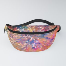 Colored lights background Fanny Pack