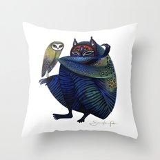 Owl & Spirit Throw Pillow