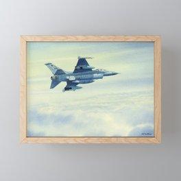 F-16 Fighting Falcon Aircraft Framed Mini Art Print