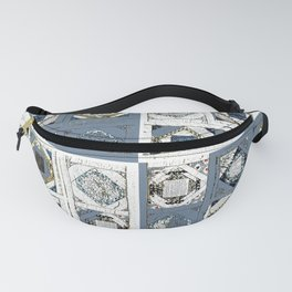 mosaic in cadet blue Fanny Pack