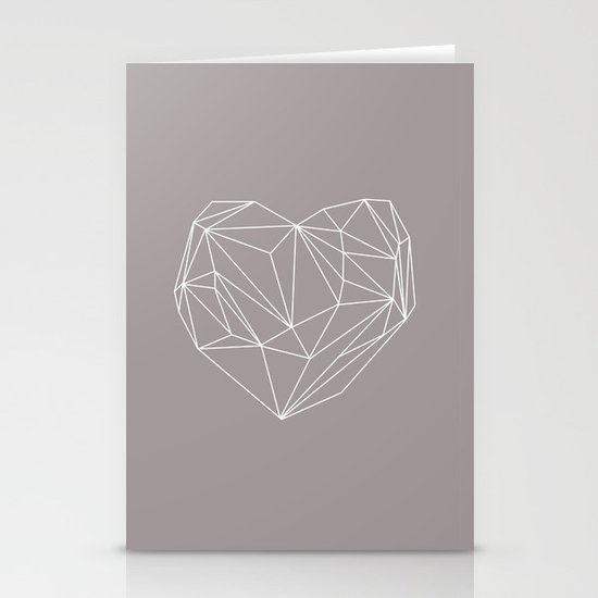 Heart Graphic Stationery Cards