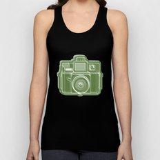 I Still Shoot Film Holga Logo - Green Unisex Tank Top