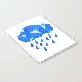 Crystal Rain - Indigo Blue Cloud Notebook