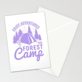 Enjoy Adventures The Forest Camp pu Stationery Cards