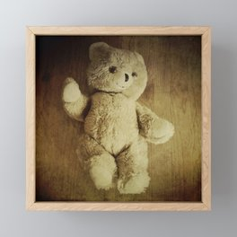 Old Teddy Bear Framed Mini Art Print