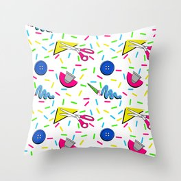 sew 80s Throw Pillow