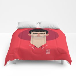 Novak Djokovic Tennis Illustration Comforters