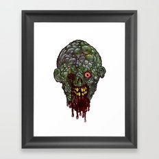 Heads of the Living Dead  Zombies: Pus Zombie Framed Art Print