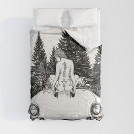 asc 326 - La halte dans la tourbière (The break in the bog) Comforters