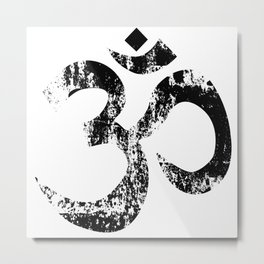 Om Rubber Stamp Metal Print