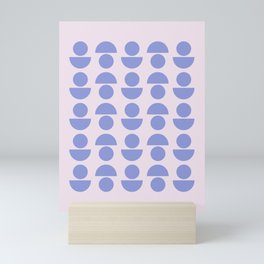 Shapes in Periwinkle Mini Art Print