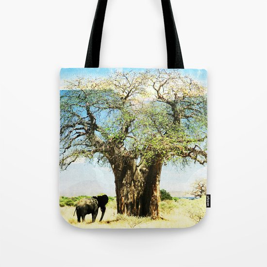 Finding an old friend - elephant in the wild Tote Bag