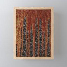 blood and glitter Framed Mini Art Print