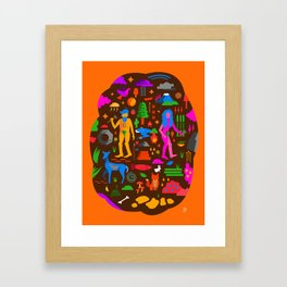 Animals, People, Nature Framed Art Print