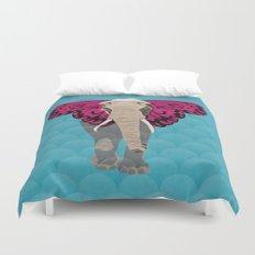 Elephant Butterfly Duvet Cover
