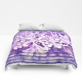 Honeysuckle in Violet and Pink Tones Comforters