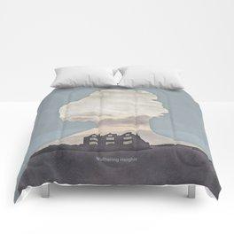 Emily Brontë Wuthering Heights - Minimalist literary design Comforters