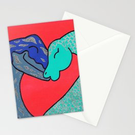 Nessie finds love Stationery Cards
