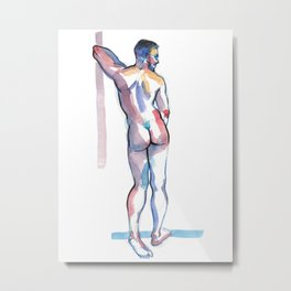RICKY, Nude Male by Frank-Joseph Metal Print