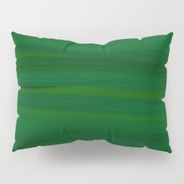Emerald Green Stripes Abstract Pillow Sham