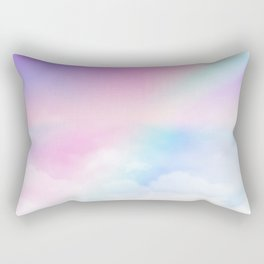 Pretty Rainbow Rectangular Pillow