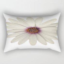 Symmetrical African Daisy with White Petals Rectangular Pillow