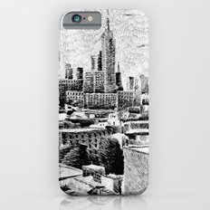 New York City - Fingerprint - Black ink iPhone 6s Slim Case