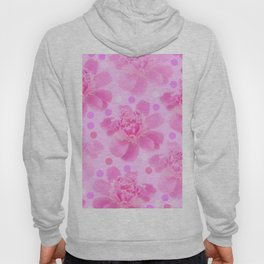 Cute and girly - pink flowers and dots - pink tones - #society6 #buyart Hoody