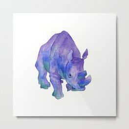 Northern White Rhinoceros Metal Print