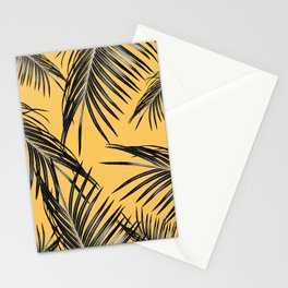 Black Palm Leaves Dream #6 #tropical #decor #art #society6 Stationery Cards