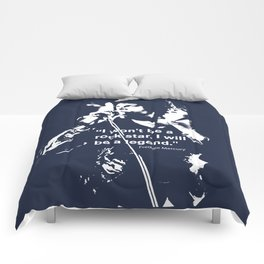 I won't be a rock star. I will be a legend Freddy Mercury Queen Quote Design Comforters