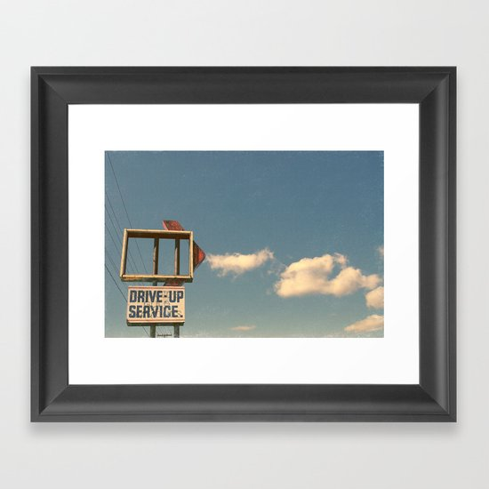Drive Up Framed Art Print