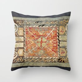 Kaitag 18th Century Caucasian Embroidery Print Throw Pillow